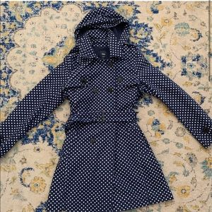 Gap polka dot trench coat